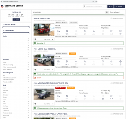 used cars center b2b car auction system user interface